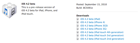 iOS 4.2 for iPhone, iPad and iPod touch