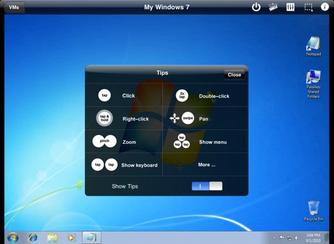 Run Windows 7 and Linux on iPhone, iPod touch and iPad, Sort