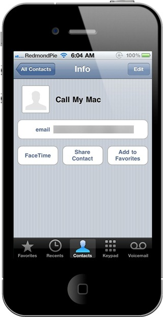 FaceTime on iPhone 4