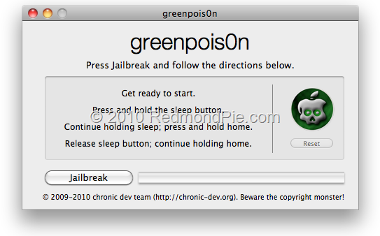 GreenPois0n for Mac OS X