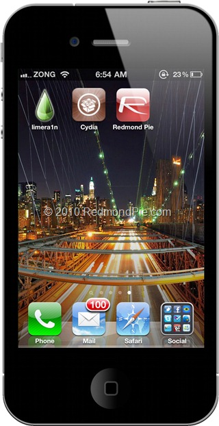 Limera1n on iPhone 4