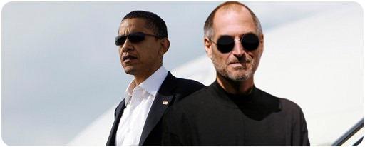 Obama and Steve Jobs