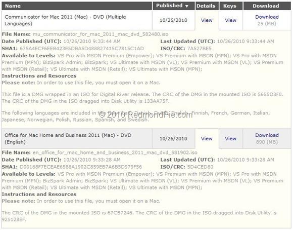 office 2011 mac download dmg