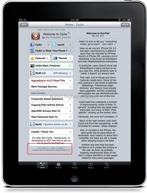 Cydia on iOS 4.2.1