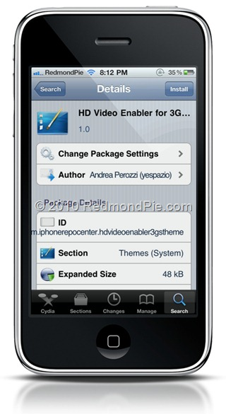 HD Video Recording iPhone 3GS