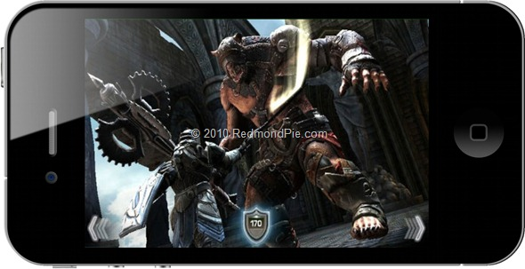 Infinity Blade on iPhone 4