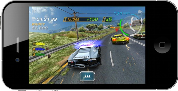 NFS Hot Pursuit on iPhone 4