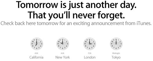 iTunes Announcements