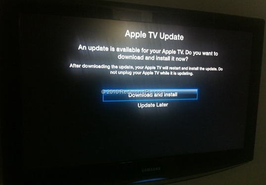 Apple TV 2G Software Update