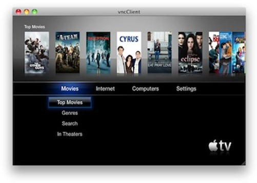 Exposed Apple TV VNC Server