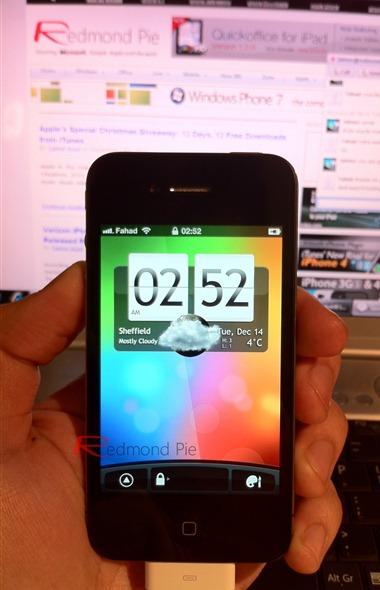 HTC Sense on iPhone 4