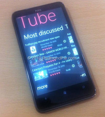 YouTube for WP7 (2)