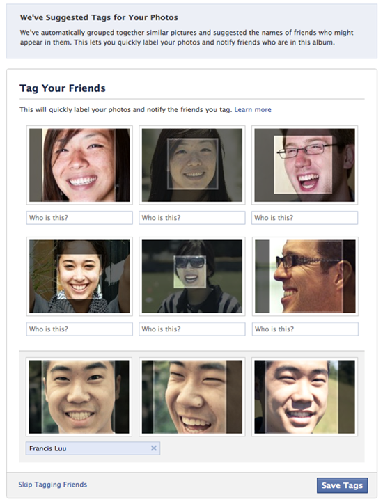 Facebook Face Detection
