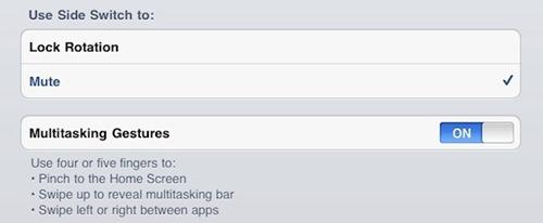 iPad Settings App