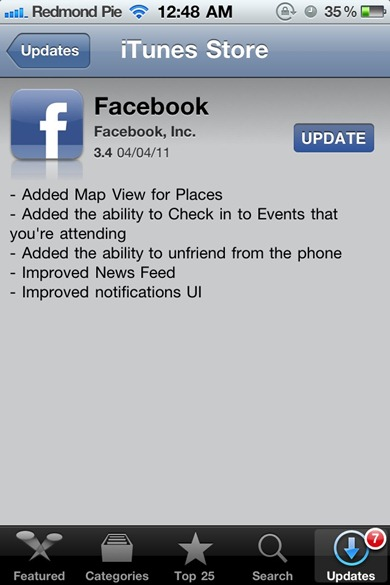 Facebook for iPhone 3.4