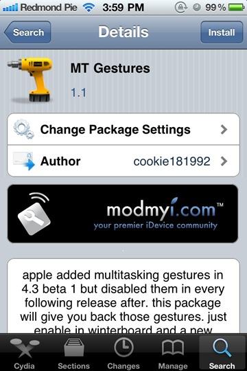 MT Gestures iPhone 4