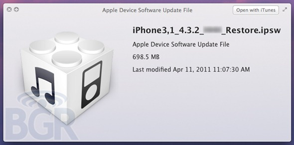 iOS 4.3.2 for iPhone