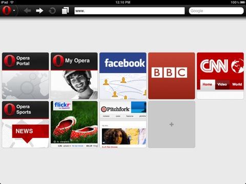 Opera Mini for iPad