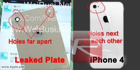 iPhone 4 back plate vs leaked plate