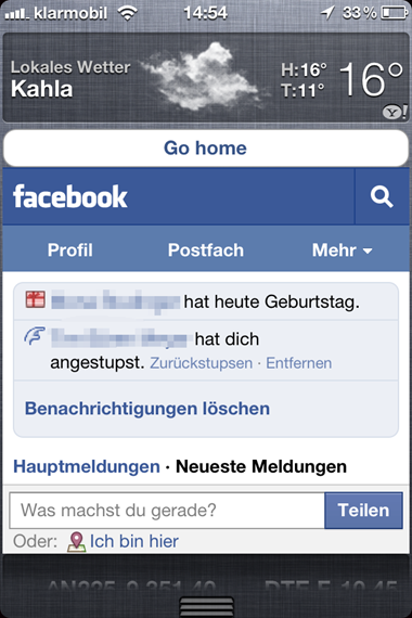 Facebook Widget For iOS 5