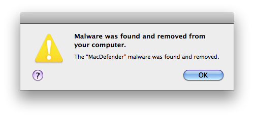 MacDefender Removed