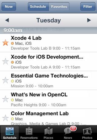 WWDC 2011 App