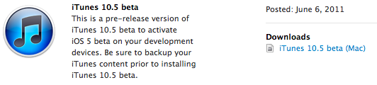 iTunes 10.5 Beta