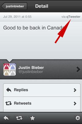 Bieber's Tweet