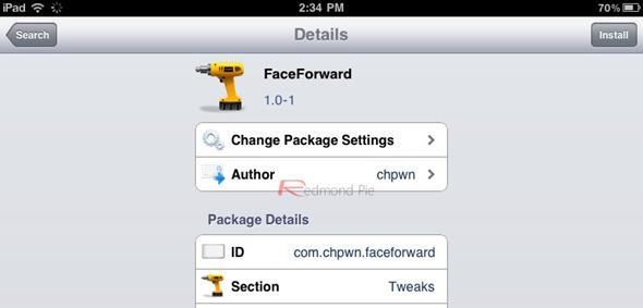 FaceForward iPad