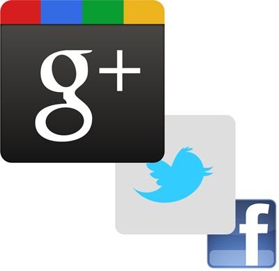 Google Twitter Facebook