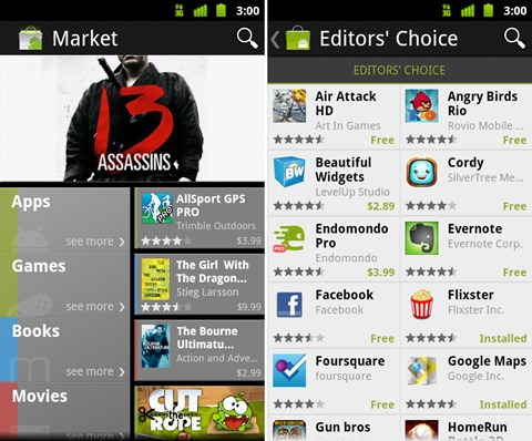 New Android Market