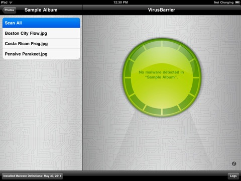 VirusBarrier for iPad
