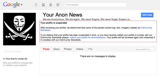 Anonymous Google+