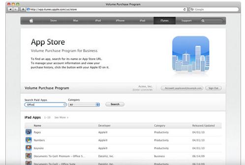 App Store Volume Purchasing
