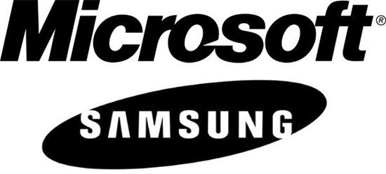 samsung microsoft licensing deal logos