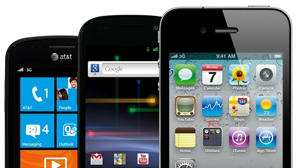 iPhone Android WP7