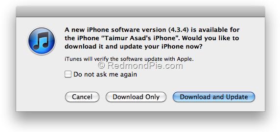 iOS 4.3.4 Install