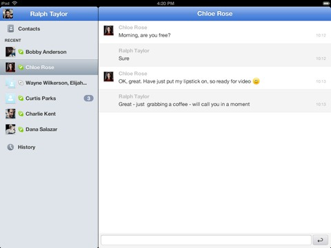 Skype for iPad (2)