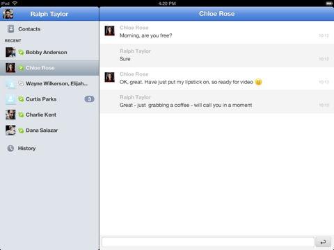 Skype for iPad (2)
