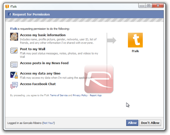 fTalk Login Permission
