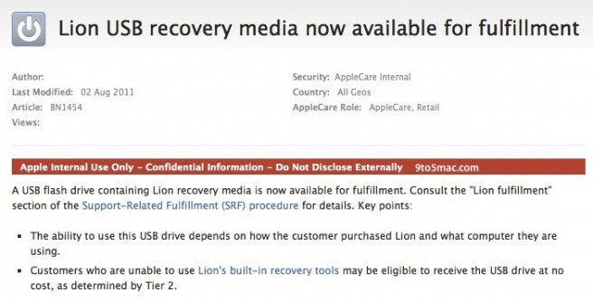 Lion USB