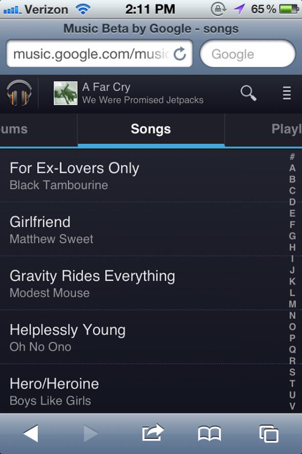 Google Music for iOS