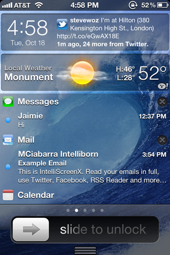 Bring iOS 5 Notification Center To Your iPhone's Lockscreen