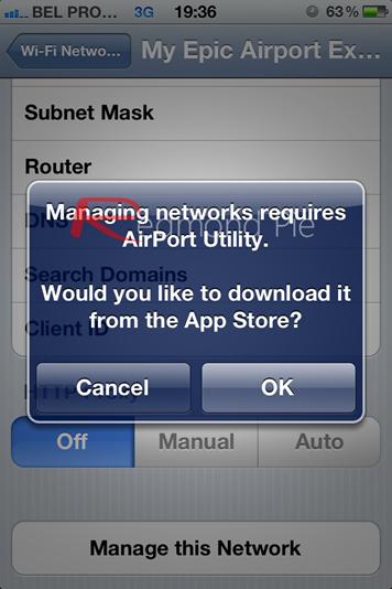 iOS 5 Airport Managing Utility