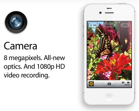 iPhone 4S Camera Specs