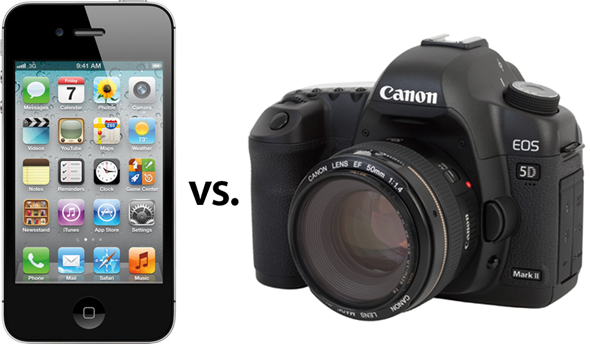iPhone 4S vs Canon EOS 5D MKII