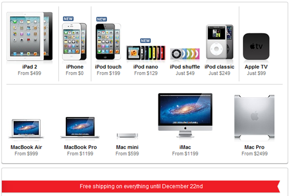 Apple Free Shipping