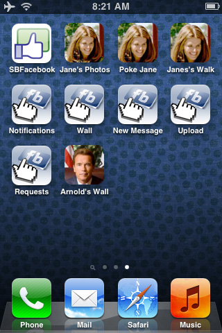 Add Facebook-Specific Shortcuts To iPhone Home Screen With