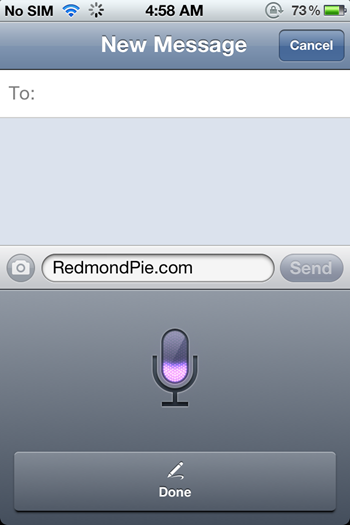 Siri Dictation On iPhone 4