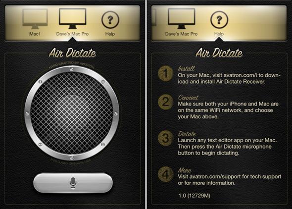 Air Dictate screenshots